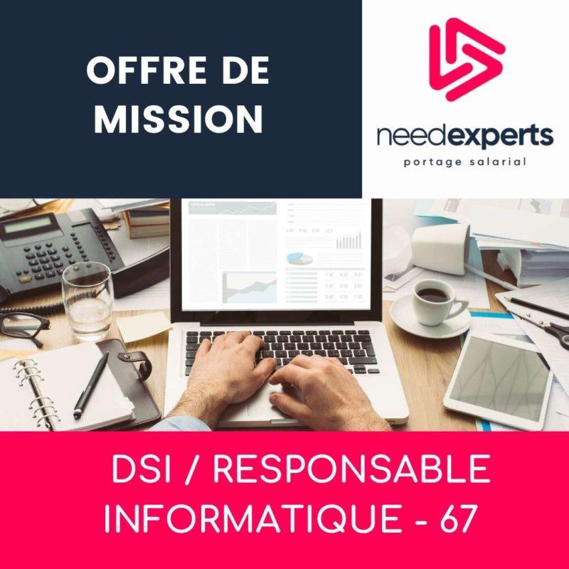 Offre de mission – DSI – RESPONSABLE INFORMATIQUE – 67 – Mai 2021