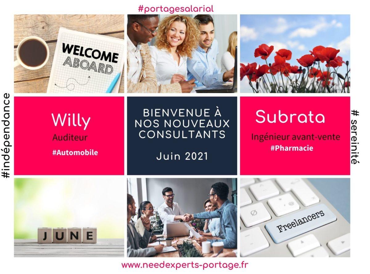 Juin 2021 - nos nouveaux consultants